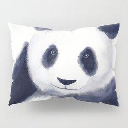 Cute Panda Watercolor Pillow Sham