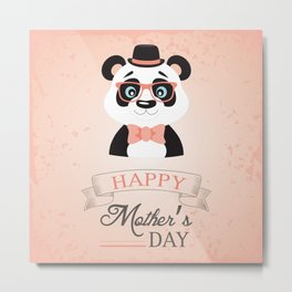 Happy Mother's Day ~ Panda Metal Print