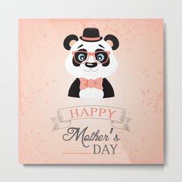 Happy Mother's Day ~ Panda Metal Print