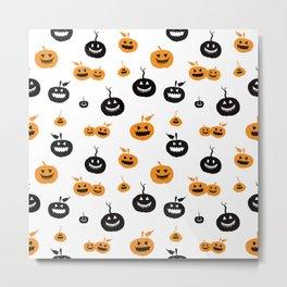 Spooky pumpkins background Metal Print