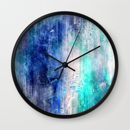 Winter Abstract Acrylic Textured Painting Wall Clock