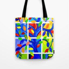 Tree of Life, bright colors Tote Bag