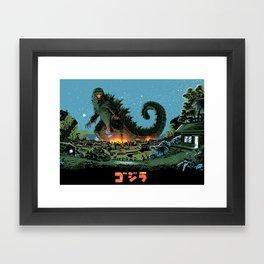Godzilla - Blue Edition Framed Art Print