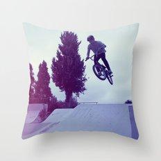 BMX Skatepark Throw Pillow