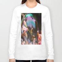bubbles Long Sleeve T-shirts featuring Bubbles by Dora Birgis