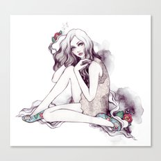 Picadilly Girl Canvas Print