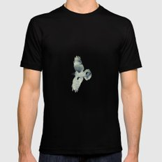 BIRDS DREAM II Black Mens Fitted Tee X-LARGE