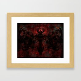 The moth Framed Art Print
