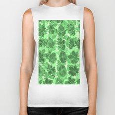 Green Leaves Biker Tank