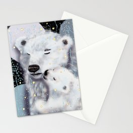 Mom and Baby // Winter polar bears  Stationery Cards