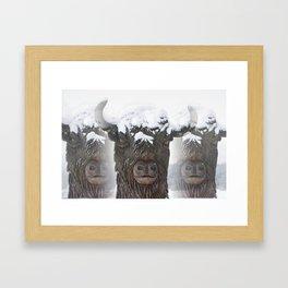 Bisons Framed Art Print
