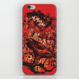 crow and owl iPhone Skin