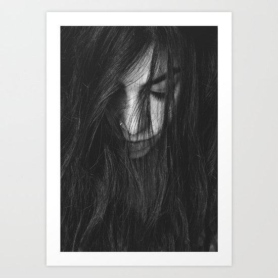 Dark Girl Art Print
