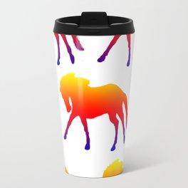 Sunset Horses Travel Mug
