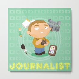 Journalist Metal Print