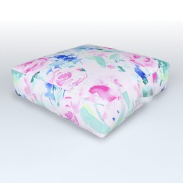 Scattered Lovers Pink Outdoor Floor Cushion