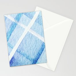 Watercolor Blues Stationery Cards