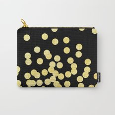 Cruz - Gold Foil Dots on Black - Scattered gold dots, polka dots, dots by Charlotte Winter Carry-All Pouch