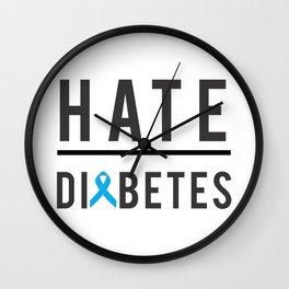 I hate diabetes Wall Clock