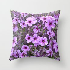 Lilac Pansies Throw Pillow