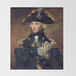 Admiral Horatio Nelson Throw Blanket