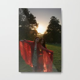 Red Witches Metal Print