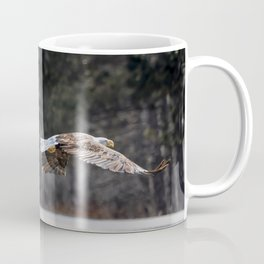 March Eagle over the highway Coffee Mug