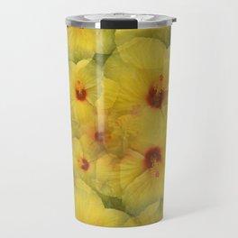 Yellow Hibiscus Travel Mug