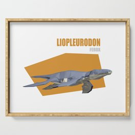 Low Poly Dinosaur - Liopleurodon Serving Tray