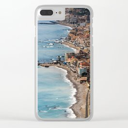 Italy Coast Line Clear iPhone Case