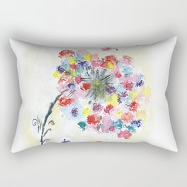 Dandelion watercolor illustration, rainbow colors, summer, free, painting Rectangular Pillow