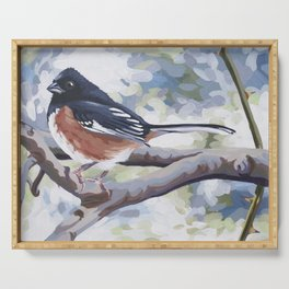 Eastern Towhee Serving Tray