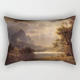 Estes Park Colorado 1869 By Albert Bierstadt | Reproduction Painting Rectangular Pillow