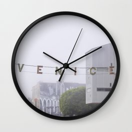 Venice Beach Sign Architecture California Travel Wall Clock