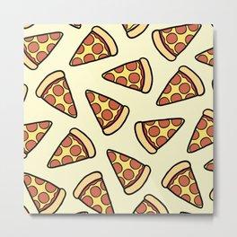 Pepperoni Pizza Pattern Metal Print