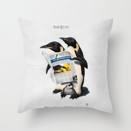 Read All Over Throw Pillow
