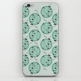 Butterfly pattern mint iPhone Skin