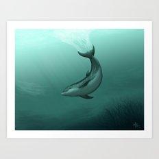 Siren of the Lagoon ~ Dolphin Art Print
