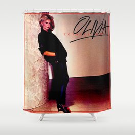 Olivia Newton-John - Totally Hot - 1970s Shower Curtain
