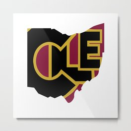 CLE, Ohio Metal Print