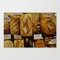 bread Canvas Prints featuring Bread by Chris Klemens