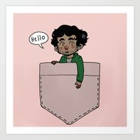 grantaire Art Prints featuring Pocket Grantaire by Antisepticbandaid