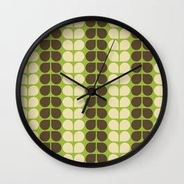 Retro leaf Wall Clock