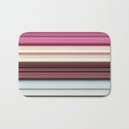 Sandwich cookie stripes Bath Mat