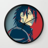 sasuke Wall Clocks featuring Sasuke - Truth by KingSora