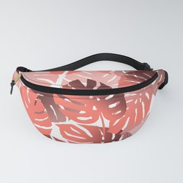 Monstera Big Leaves white background Fanny Pack