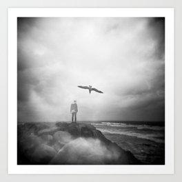 """Ghost Bird"" - California Coast Holga double exposure Art Print"