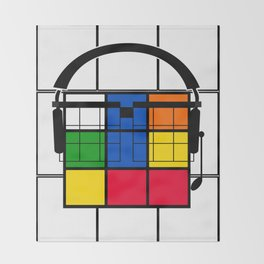 Nerd Rubik Throw Blanket