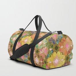 Marrakesh Flowers olive & rose Duffle Bag