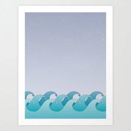 Waves in the Ocean Art Print